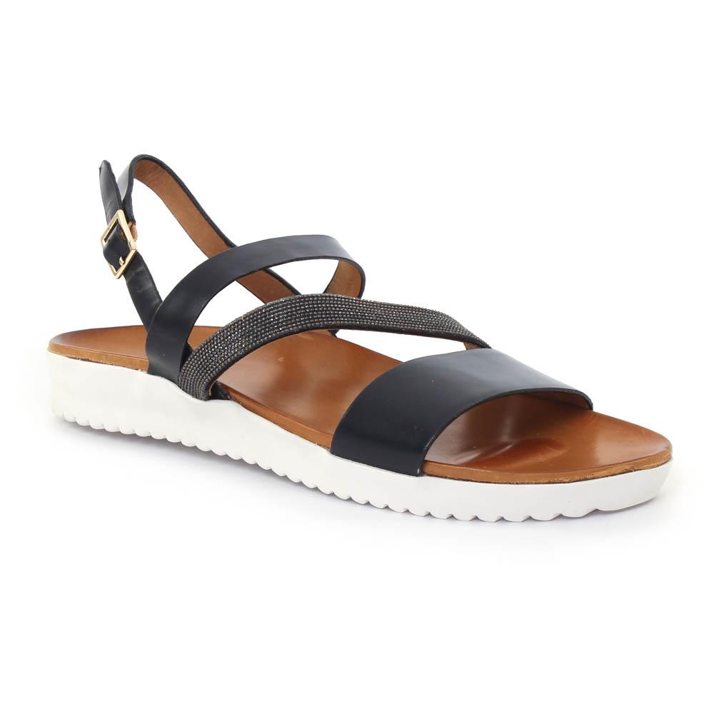 femme plus xabi black sandales noir printemps t chez trois par 3. Black Bedroom Furniture Sets. Home Design Ideas