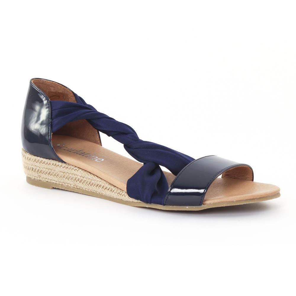 scarlatine 44294 marine sandale semelle corde bleu marine printemps t chez trois par 3. Black Bedroom Furniture Sets. Home Design Ideas