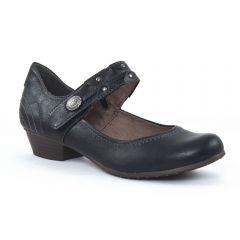 Chaussures femme été 2015 - babies talon tamaris noir