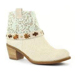 Chaussures femme été 2015 - boots d'été Mamzelle blanc beige