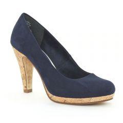Chaussures femme été 2015 - escarpins marco tozzi bleu marine