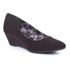 Chaussures femme été 2015 - escarpins compensées marco tozzi noir