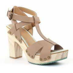 Chaussures femme été 2015 - nu-pieds talons hauts Gioseppo beige taupe