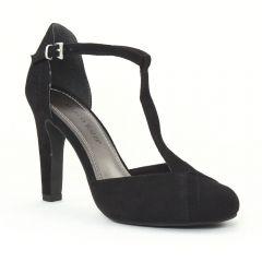 nu-pieds-talons-hauts noir: même style de chaussures en ligne pour femmes que les Scarlatine