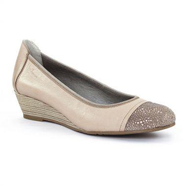 Ballerines Dorking 6361 Vison, vue principale de la chaussure femme