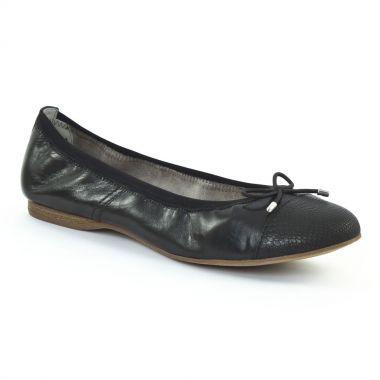 Ballerines Tamaris 22129 Black Black, vue principale de la chaussure femme