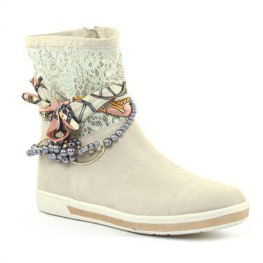 Bottines Et Boots Mamzelle Georgy Beige, vue principale de la chaussure femme
