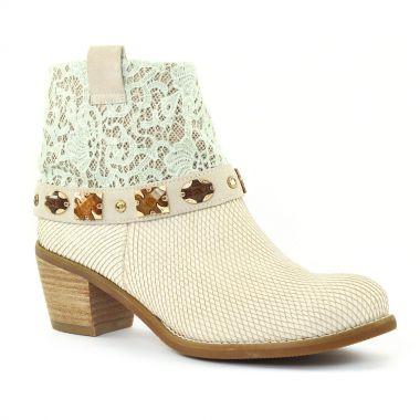 Bottines Et Boots Mamzelle Otello Craie, vue principale de la chaussure femme
