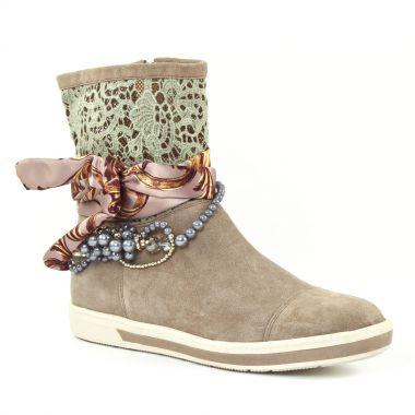 Bottines Et Boots Mamzelle Georgy Taupe, vue principale de la chaussure femme