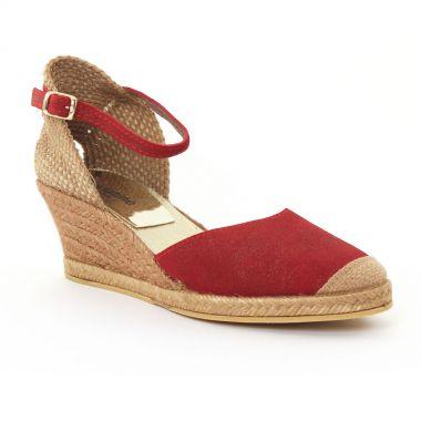 Espadrilles Scarlatine 5t50 Rouge, vue principale de la chaussure femme