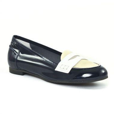 Mocassins Scarlatine 7779 Marine Blanc, vue principale de la chaussure femme