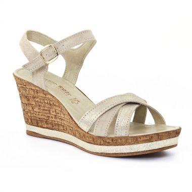 Nu Pieds Et Sandales Marco Tozzi 28353 Platinum, vue principale de la chaussure femme