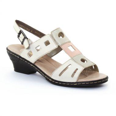 Nu Pieds Et Sandales Rieker 62169 Perle, vue principale de la chaussure femme