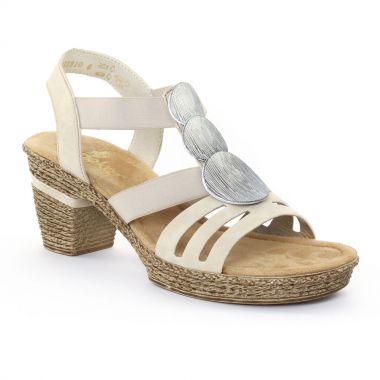 Nu Pieds Et Sandales Rieker 69068 Chair, vue principale de la chaussure femme