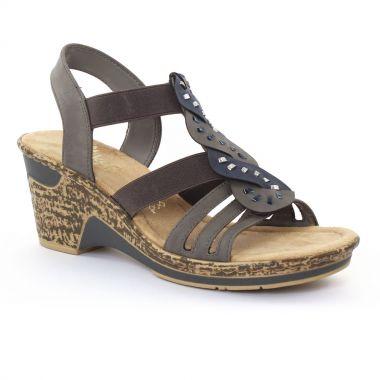 Nu Pieds Et Sandales Rieker 60668 Jeans, vue principale de la chaussure femme