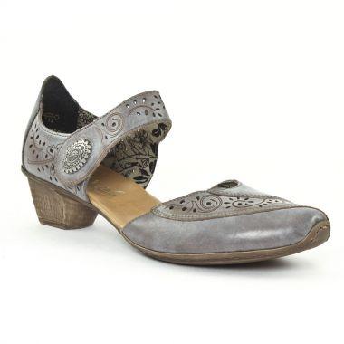 Nu Pieds Et Sandales Rieker 49757 Grey, vue principale de la chaussure femme