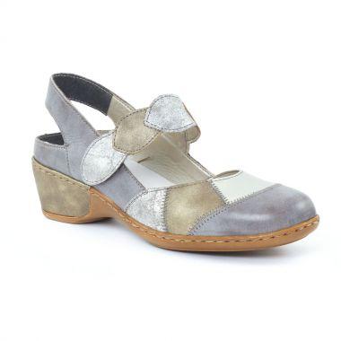 Nu Pieds Et Sandales Rieker 47159 Grey, vue principale de la chaussure femme
