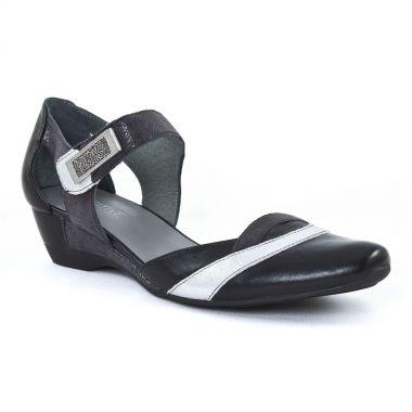 Nu Pieds Et Sandales Fugitive Samy Noir argent, vue principale de la chaussure femme