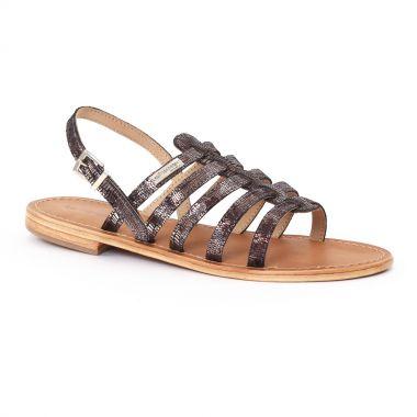 Nu Pieds Et Sandales Les Tropeziennes Brillant Noir Bronze, vue principale de la chaussure femme