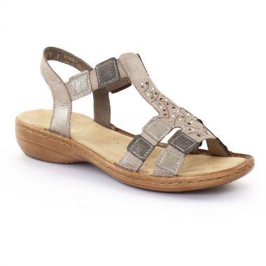 Nu Pieds Et Sandales Rieker 608b5 Murmel, vue principale de la chaussure femme