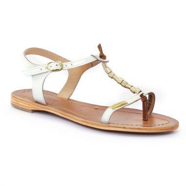Nu Pieds Et Sandales Les Tropeziennes Vanille Blanc, vue principale de la chaussure femme