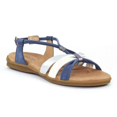 Nu Pieds Et Sandales Fugitive Come Métal jean, vue principale de la chaussure femme