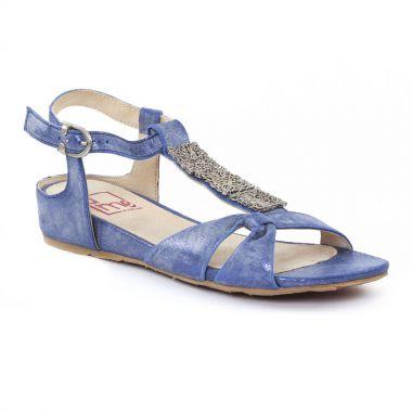 Nu Pieds Et Sandales UME - Matin d'Été Alyssa Denim, vue principale de la chaussure femme
