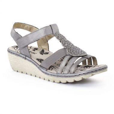 Nu Pieds Et Sandales Rieker K3756 Grey, vue principale de la chaussure femme