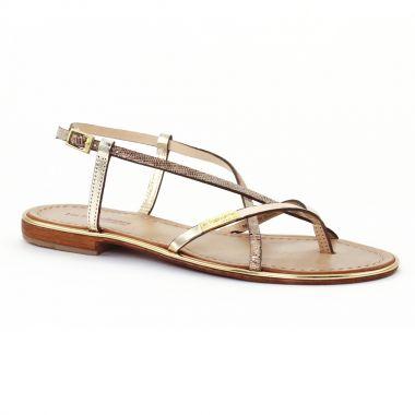Nu Pieds Et Sandales Les Tropeziennes Monaco Or serpent, vue principale de la chaussure femme