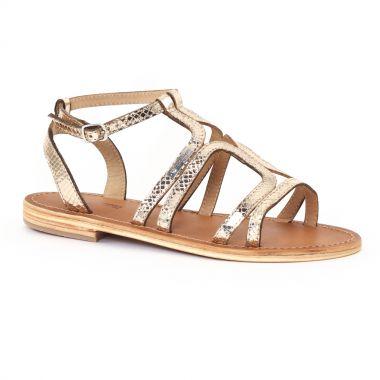 Nu Pieds Et Sandales Les Tropeziennes Hayate Or, vue principale de la chaussure femme
