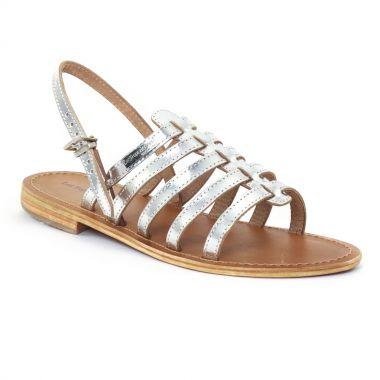 Nu Pieds Et Sandales Les Tropeziennes Havane Argent, vue principale de la chaussure femme