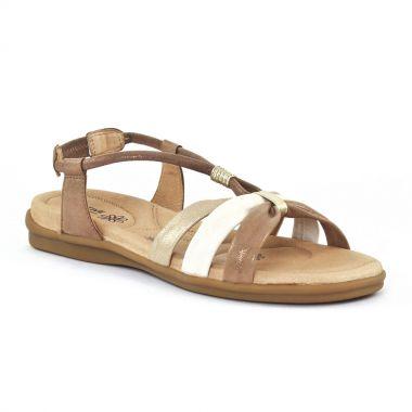 Nu Pieds Et Sandales Fugitive Come Metal cuivre, vue principale de la chaussure femme
