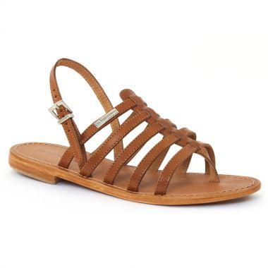 Nu Pieds Et Sandales Les Tropeziennes Heriber Tan, vue principale de la chaussure femme