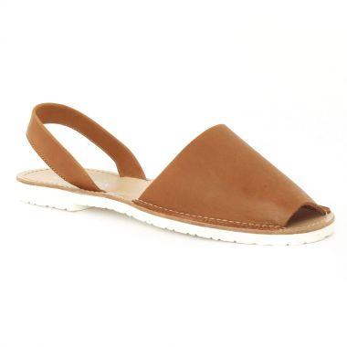 Nu Pieds Et Sandales Scarlatine 44265 Nature, vue principale de la chaussure femme