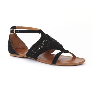 Nu Pieds Et Sandales Femme Plus Djengo Black, vue principale de la chaussure femme