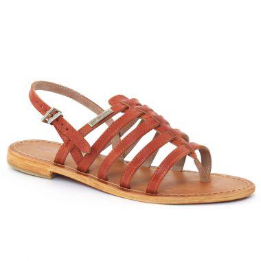Nu Pieds Et Sandales Les Tropeziennes Heriber Orange, vue principale de la chaussure femme