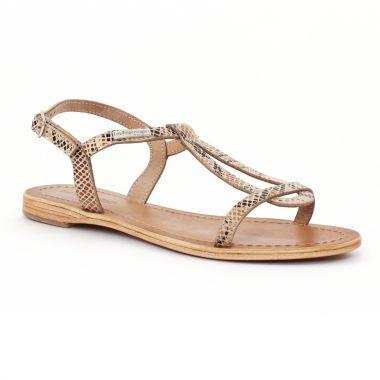 Nu Pieds Et Sandales Les Tropeziennes Hamess Serpent beige serpent beige, vue principale de la chaussure femme