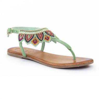 Nu Pieds Et Sandales Gioseppo 27466 Green, vue principale de la chaussure femme