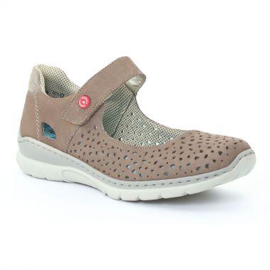 Tennis Et Baskets Mode Rieker L3255 Mineral, vue principale de la chaussure femme