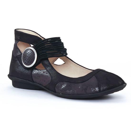 Ballerines Fugitive Uffy Noir, vue principale de la chaussure femme