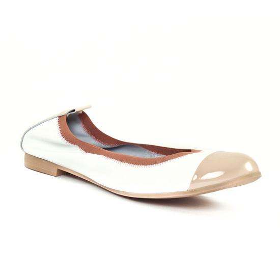 Ballerines Scarlatine 7296 Beige Blanc, vue principale de la chaussure femme