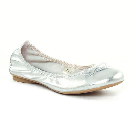 Ballerines Scarlatine 5194Q Silver, vue principale de la chaussure femme
