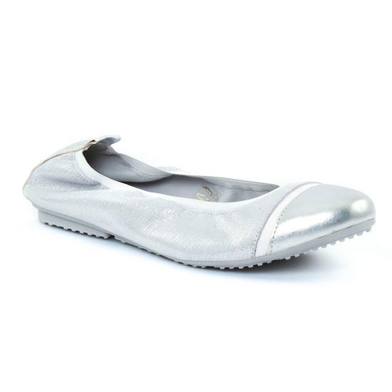 Ballerines Scarlatine 7797 Argent Gris, vue principale de la chaussure femme
