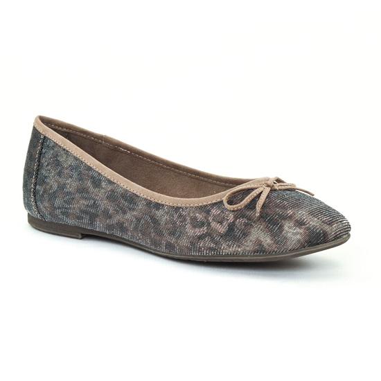 Ballerines Tamaris 22103 Léopard, vue principale de la chaussure femme