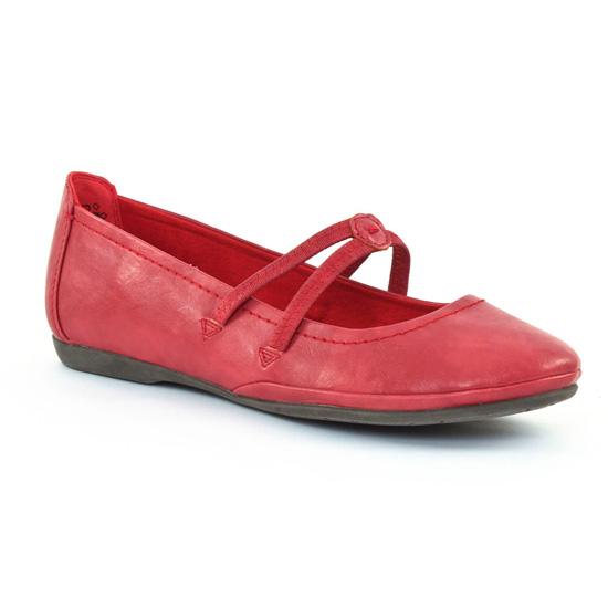Ballerines Marco Tozzi 24224 Cranberry, vue principale de la chaussure femme