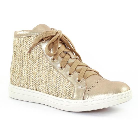 Tennis Et Baskets Mode Fugitive Medi Gold Naturel, vue principale de la chaussure femme