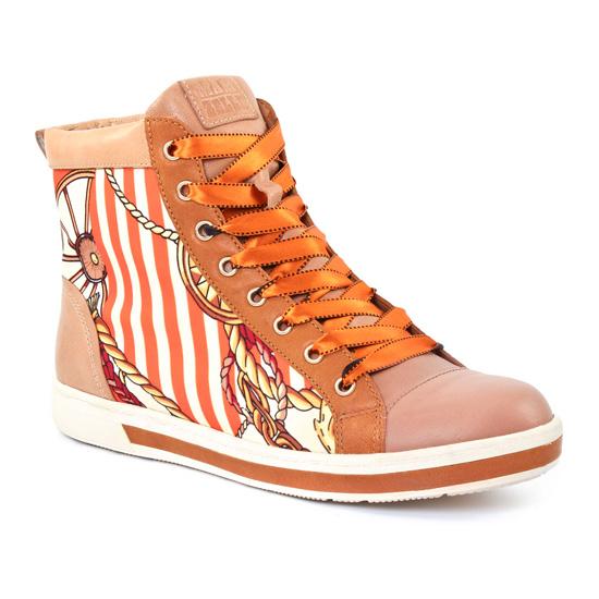 Tennis Et Baskets Mode Mamzelle Gin Orange, vue principale de la chaussure femme
