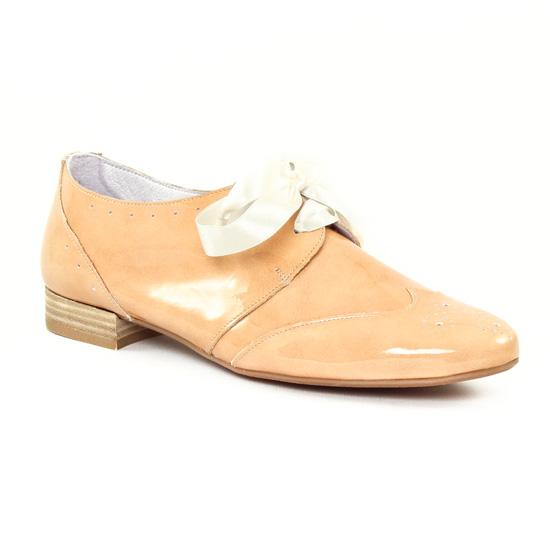 Chaussures À Lacets Scarlatine 8554e Nude, vue principale de la chaussure femme