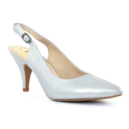 Tamaris 29614 Silver | escarpin brides gris argent printemps