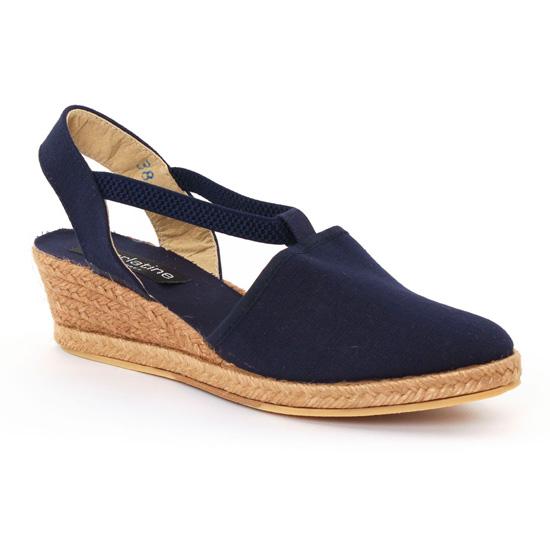 Espadrilles Scarlatine 4t99 Navy, vue principale de la chaussure femme